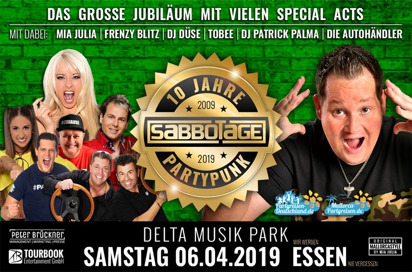 10 Jahre Sabbotage – Die Party in Essen mit vielen Stars