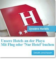 Nur Hotel Buchung an der Playa